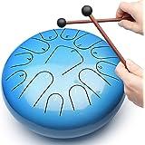 REGIS Steel Tongue Drum, 13-Note 12-Inch Drum Set, Percussion Instrument, with Travel Bag & Drumsticks, Suitable for Children