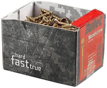 Bullet - Caja de tornillos para madera (4,0 x 60 mm, 180