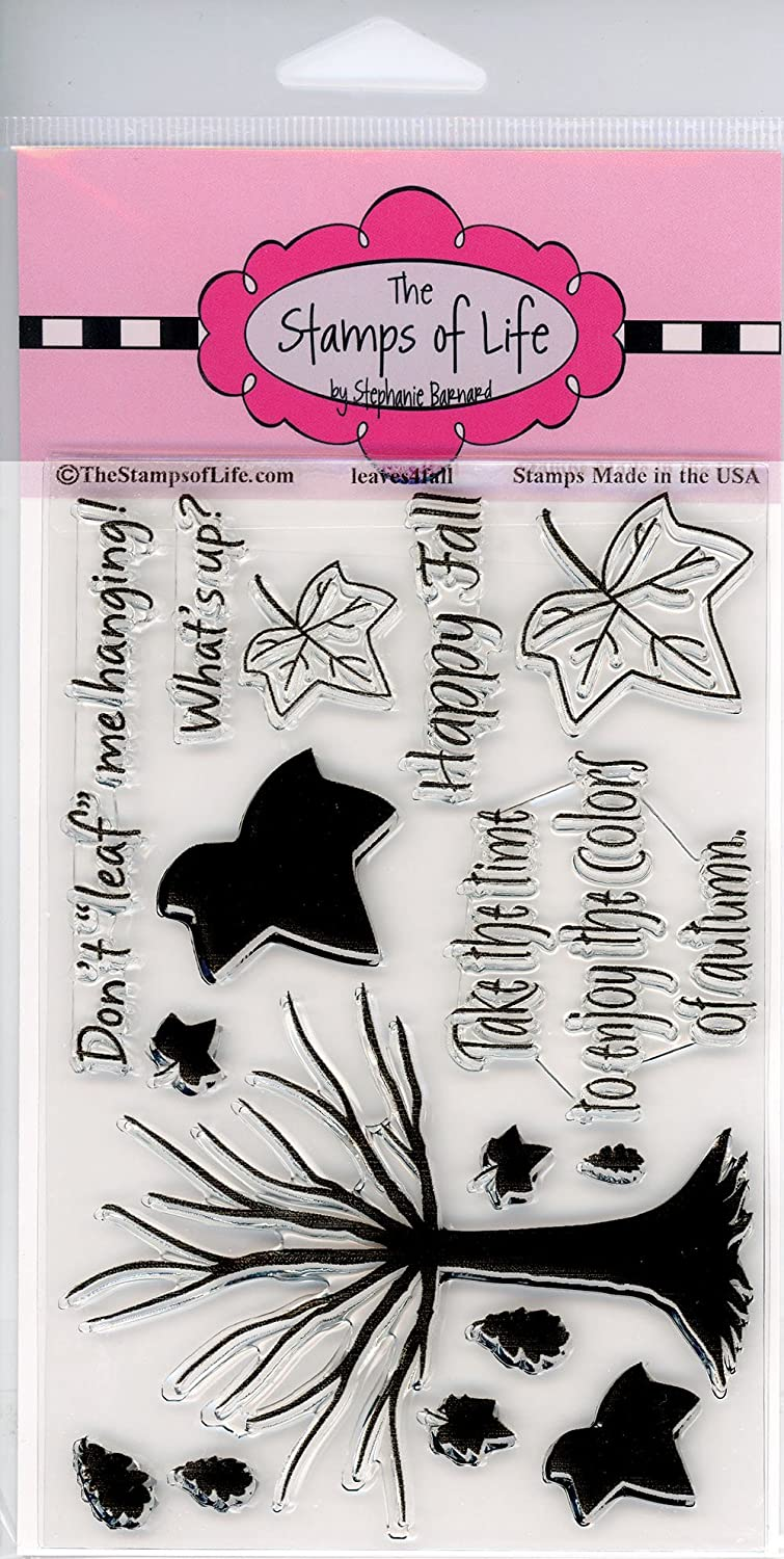 Halloween Tree Fall Stamps for Card-Making and Scrapbooking Supplies by The Stamps of Life Leaves4Fall Sentiments