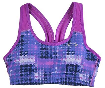 6849d7656e Oakley Women s Strength X Back Printed Sports Bra at Amazon Women s  Clothing store