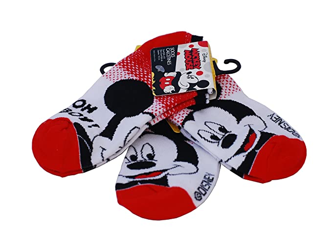 Mickey Mouse Boys Ankle Socks (3 Pairs)