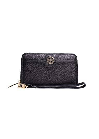 728614a28889 Tory Burch Robinson Pebbled Leather Smartphone Wristlet Wallet in Black   Amazon.co.uk  Shoes   Bags