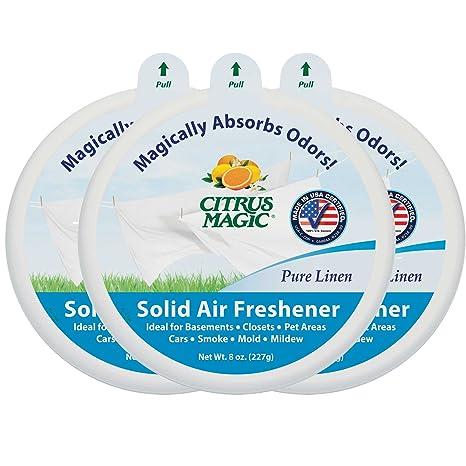 Amazon.com: Citrus Magic Solid Air Freshener Pure Linen, Pack 6, 8 Ounces  Each: Home U0026 Kitchen