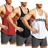GYM REVOLUTION Men's Athletic Stringer Gym Muscle Workout Racerback Fitness Tank Tops
