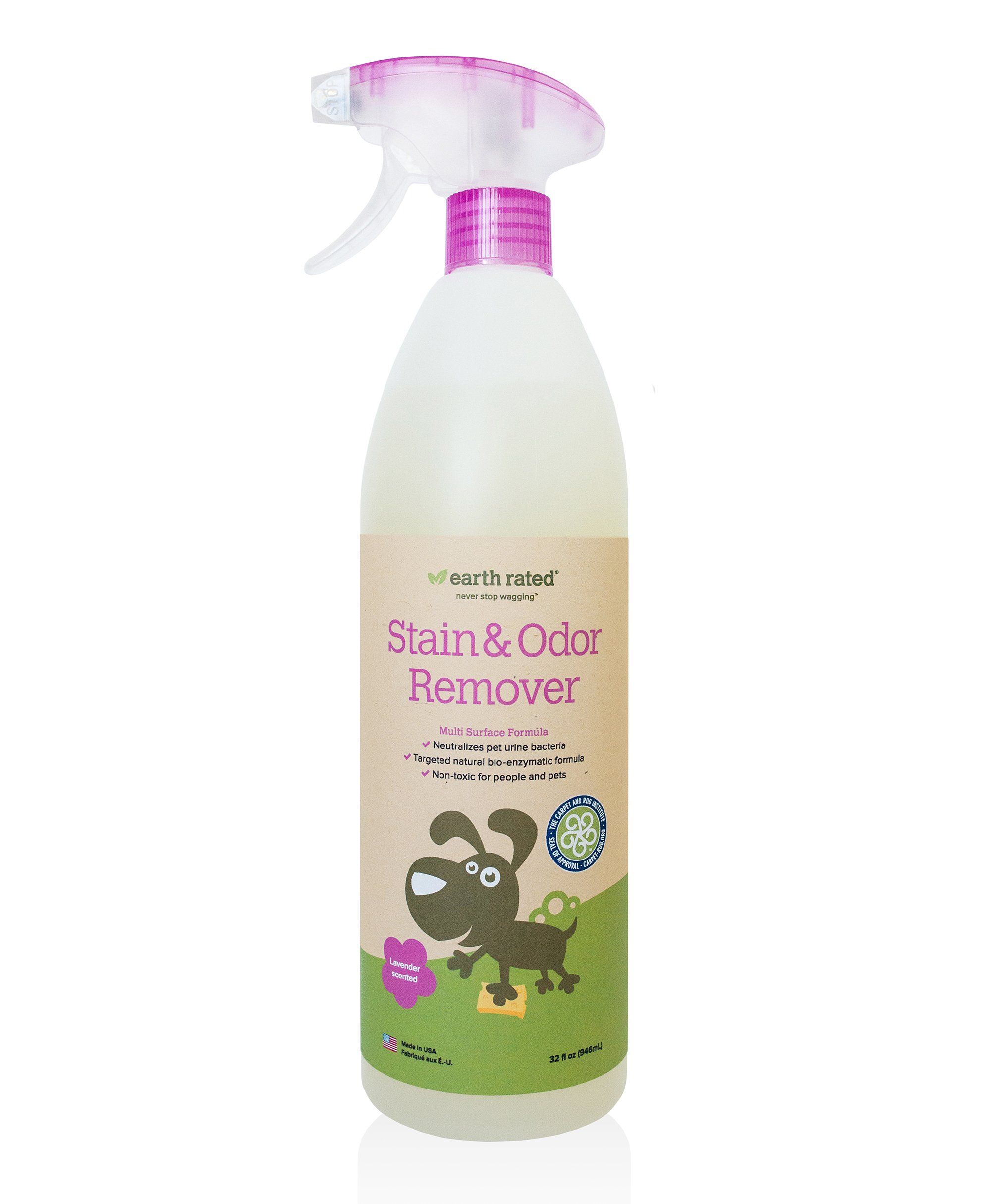 Earth Rated Lavender-scented Pet Stain and Odor Remover (32 fl oz) Powerful Natural Bio-Enzymatic Formula