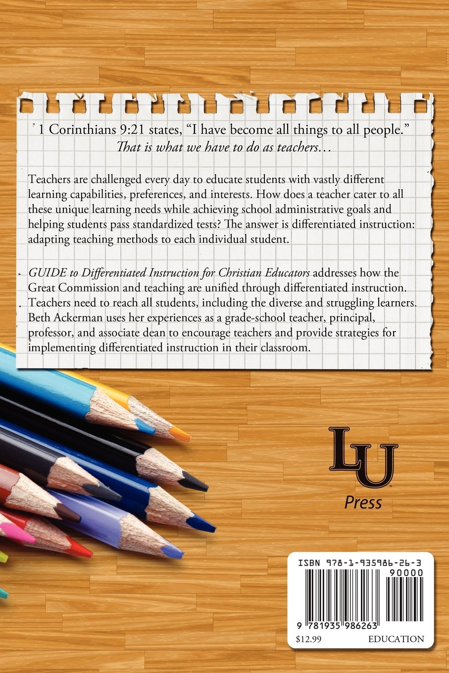 Guide Differentiated Instruction For Christian Educators Beth