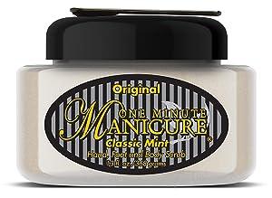 One Minute Manicure – Moisturizing Salt Scrub – 13 oz – Professionally Formulated To Exfoliate, Recondition & Moisturize Skin – Enhanced With Botanical Oils & Natural Sea Salts (Classic Mint)