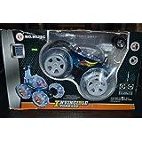 Invincible Tornado - Remote Control RC Aerobatic Turbo Twister Stunt Car Truck (Blue Color)
