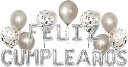 Party Balloon Pack: Feliz Cumpleaños Letter Balloons | Includes: (20ct) 12