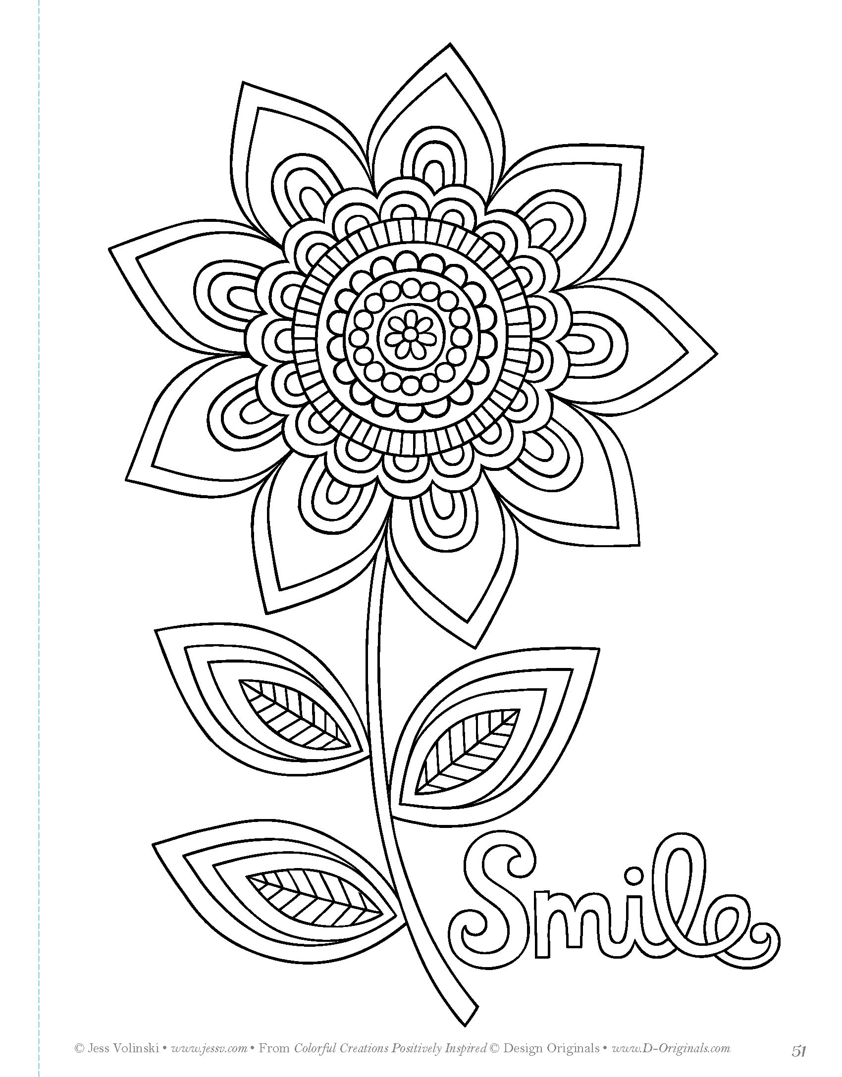 Amazon Colorful Creations Positively Inspired Coloring Book Pages Designed To Inspire Creativity Design Originals 32 Uplifting