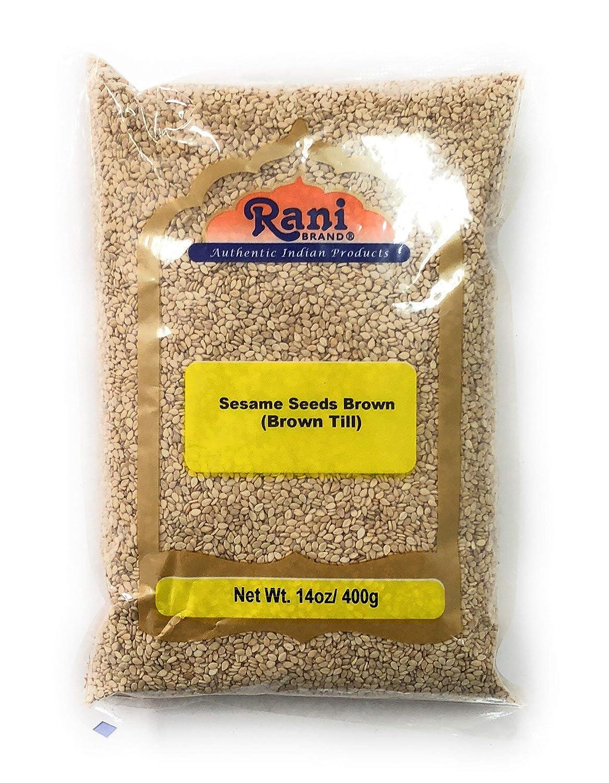 Rani Sesame Seeds Whole Raw (Till) Brown 14oz (400gm) ~ All Natural | Gluten Free Ingredients | NON-GMO | Vegan | Indian Origin