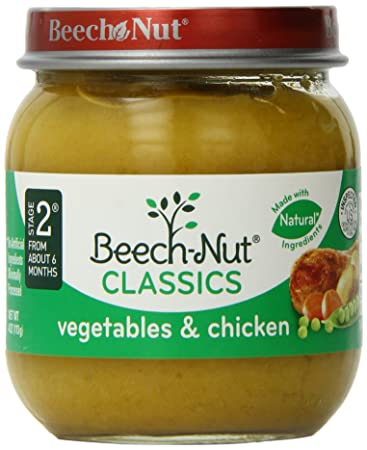 Beech Nut Stage 2 Vegetables Chicken 4oz Pack Of 10 Amazon