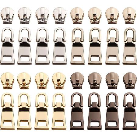 32 Pieces Zipper Pulls Zipper Replacements Zip Fixer Repair Zip Pull Tags For Cl