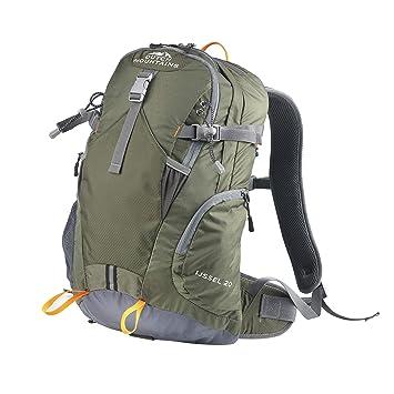 Dutch Mountains Senderismo bolsas Mochila con bolsillos Trekking Mochilas ijssel 20L, color verde, tamaño