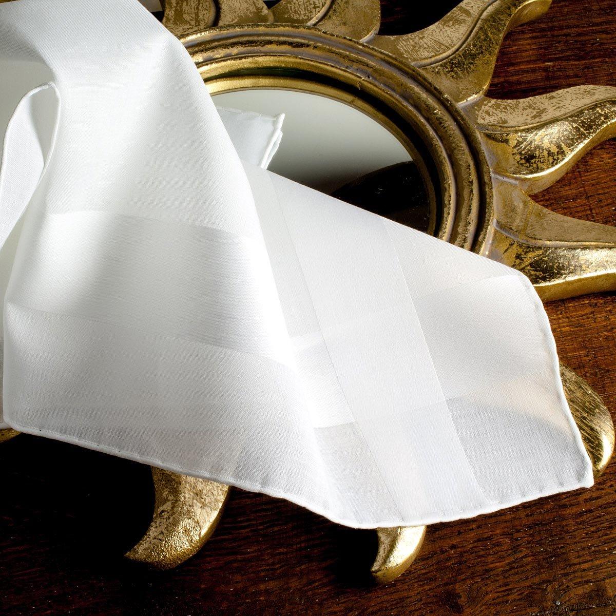 Coffret de 3 unités Merrysquare Mouchoirs blancs de luxe Louis 41cm