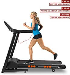 JLL T350 Digital Folding Treadmill, 2018 New Generation Digital 4.5HP Motor, 20 Incline Levels,0.3km/h to 18km/h, 20 Professional Programs, Bluetooth & Speakers, 2-Year Parts&Labour,5-Year Motor Cover
