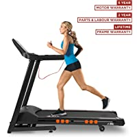 JLL T350 Digital Folding Treadmill, 2018 New Generation Digital Control 2.5HP Motor, 20 Incline Levels,0.3km/h to 18km/h, 20 Programmes, Bluetooth & Speakers, 2-Year Parts&Labour,5-Year Motor Cover