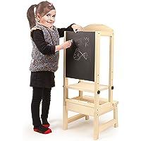 Chaise enfant cuisine Tour d'apprentissage Marche-pied chaise avec tableau pour 1-5 ans