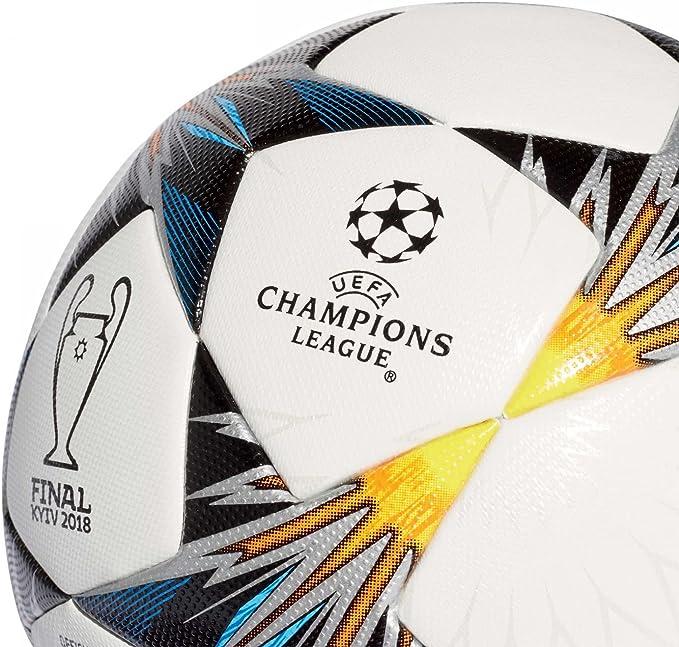 adidas Finale KIEV OMB Balón, Hombre, (Blanco/Negro/Amasol/Azul ...