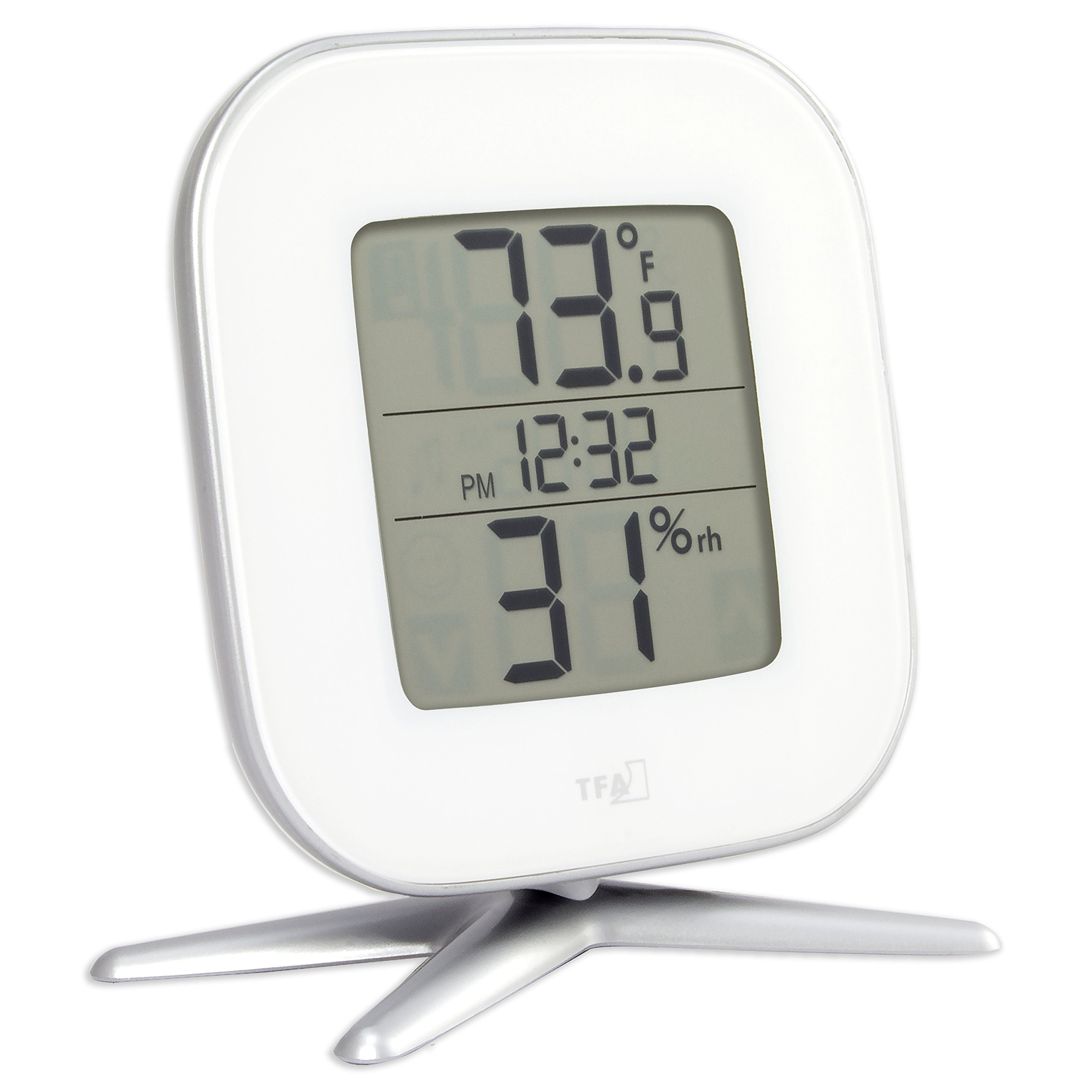 La Crosse Technology 30.5030.02 Tivi Digital Thermo-Hygrometer with Time, White