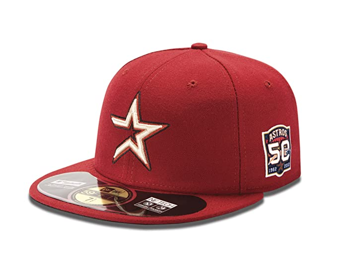 MLB Houston Astros Authentic On Field 59Fifty Cap by New Era, Brick Red, 6