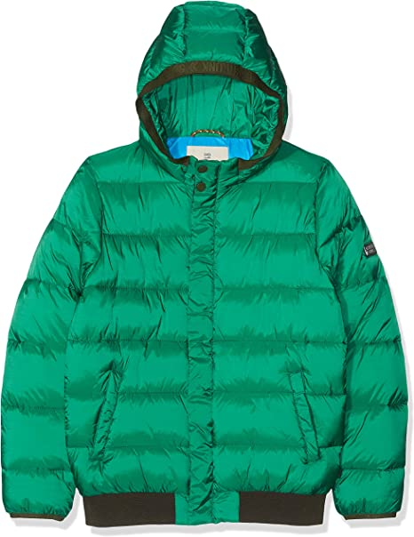 Scotch /& Soda Jungen Colour-Block Padded Jacket with Hood Jacke