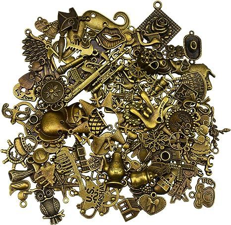 70Pcs//Set Antique Vintage Bronze Skeleton Key Charms Set DIY Necklace Pendant