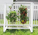 Terracotta Color 3-Tier Stacking Planter - Vertical Gardening for Herbs, Vegetables, Flowers - Patented Grid System - Best Self Watering Planter - BPA Free