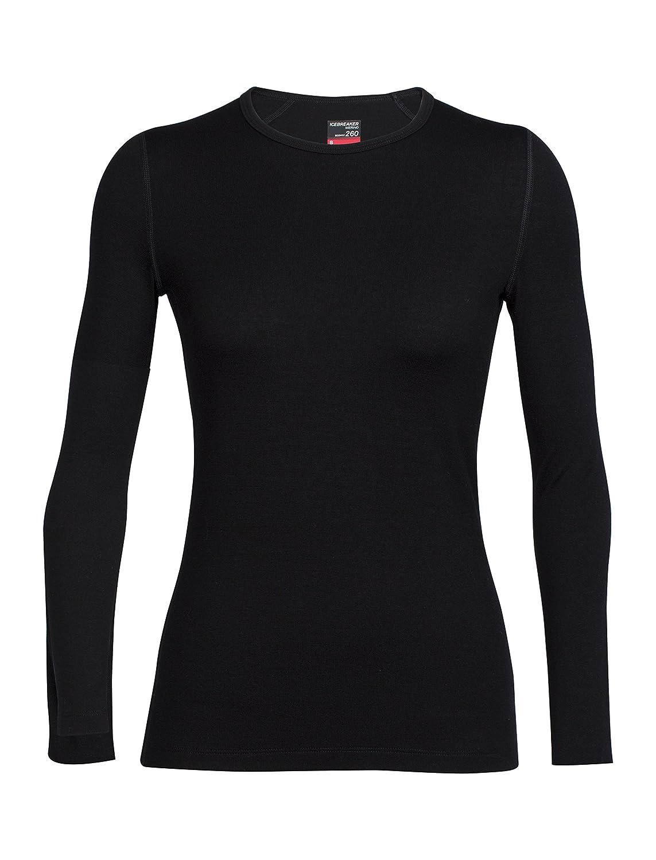 Icebreaker da Donna Tech Top a Maniche Lunghe Crewe Bodyfit