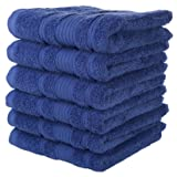 Qute Home Towels 100% Turkish Cotton Navy Blue Hand