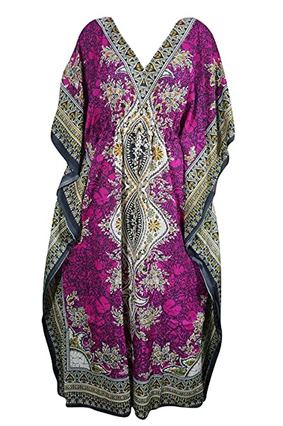 TheCraftCompany Kaftan Abiti per Le Donne Tribali Etnici Stampa Lungo Caftano  Caftano Plus Size Allentato Maxi Dress  Amazon.it  Abbigliamento 6641144878df