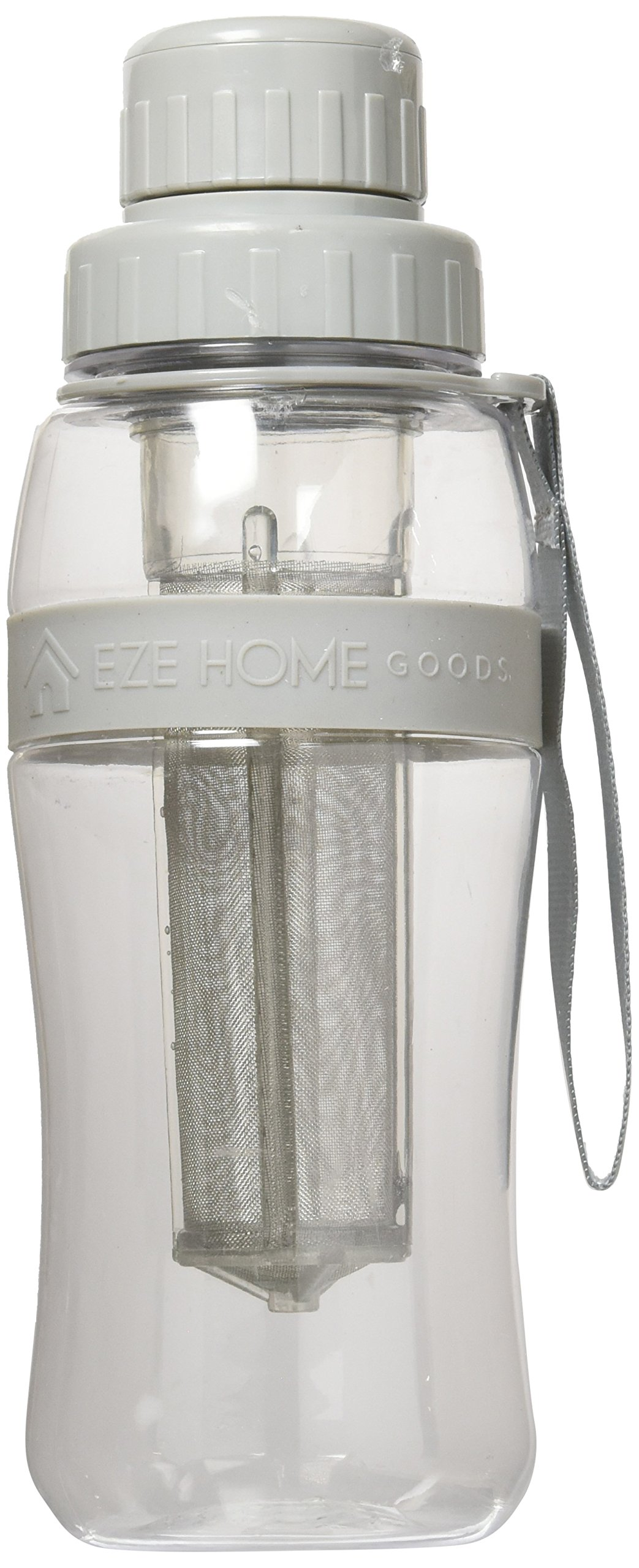 EZE Homegoods Cold Brew Iced Coffee Maker Travel Bottle (Grey) - 28 oz = 829 ML.