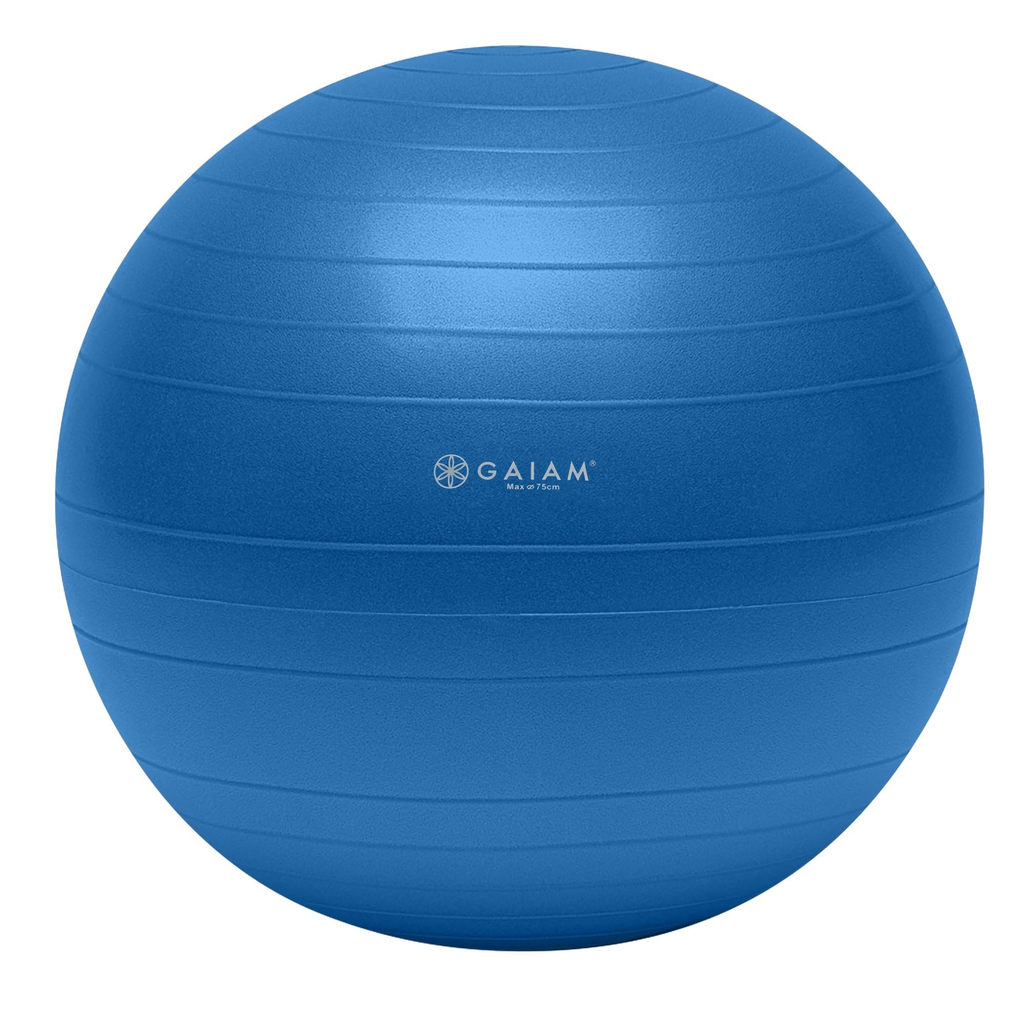 Gaiam Total Body Balance Ball Kit - Includes 75cm Anti-Burst Stability Exercise Yoga Ball, Air Pump, Workout Program