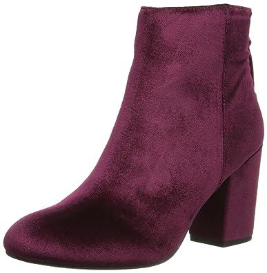 638fb1316e2 Steve Madden Women s Cynthiav Ankle Bootie Burgundy Velvet 6.5 ...