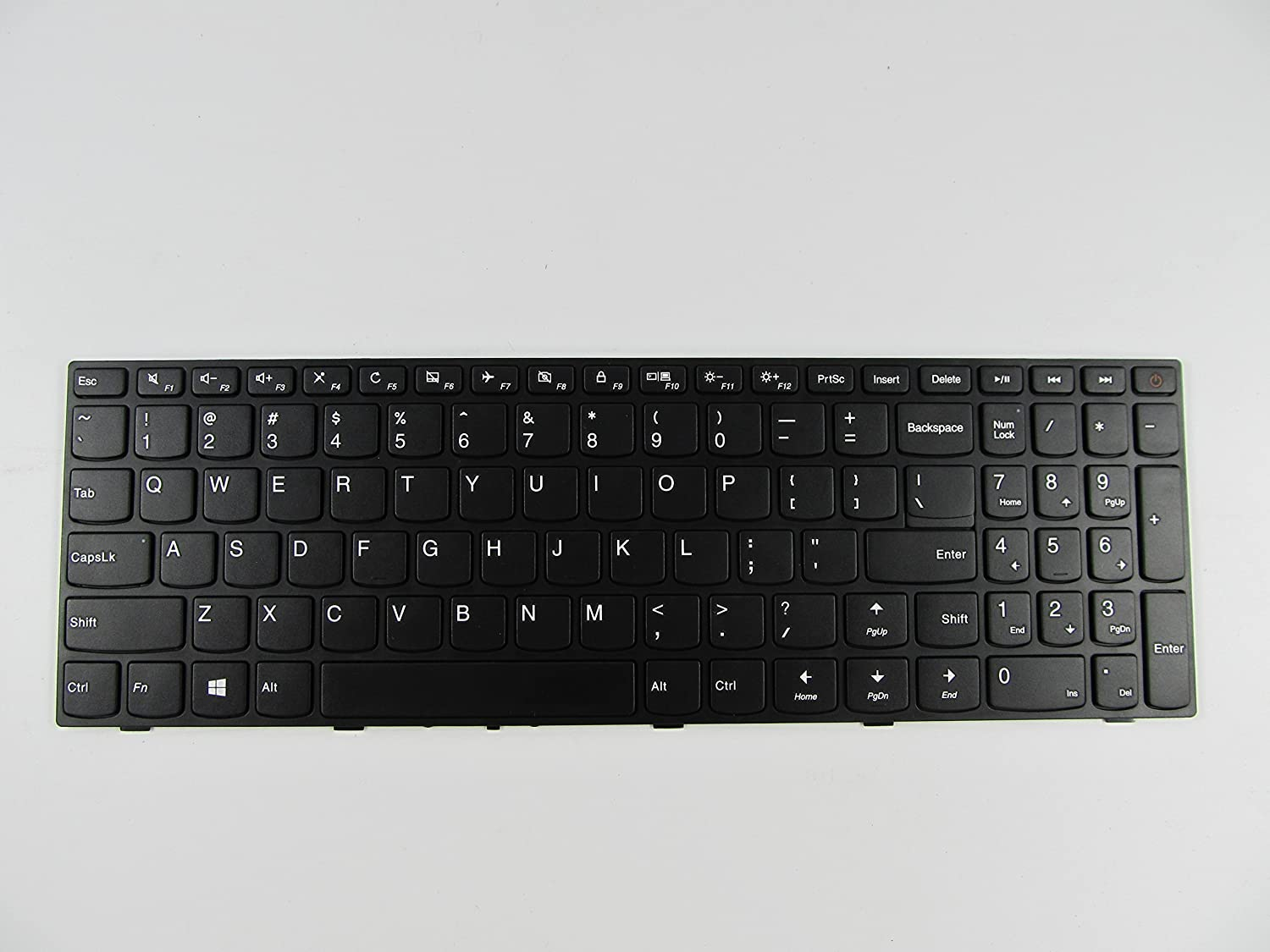 Abakoo New Keyboard for Lenovo IdeaPad 110-15ISK Laptop US Non-Backlit with Frame
