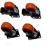 Archimax Wheel Casters with Brake Set of 4 Wheels (40 MM)