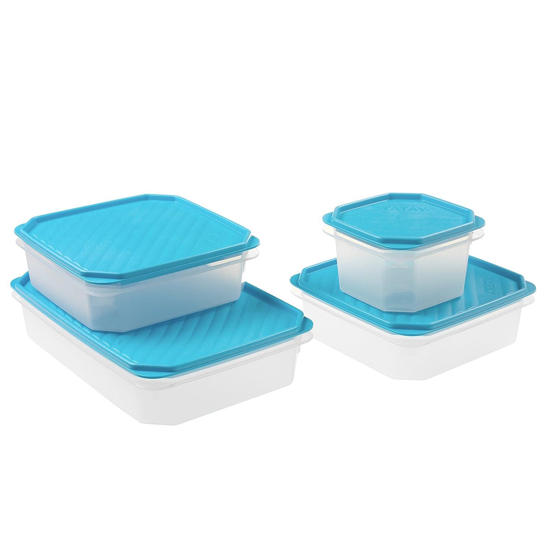 Tatay 1169000 Set 4 tapers Azul 28.00x18.50x17.50 cm