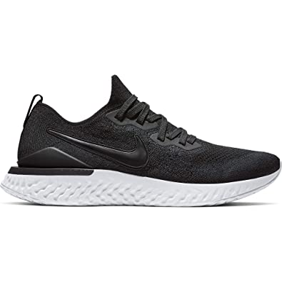 40a4610938e93 Nike Mens Epic React Flyknit 2 Running Shoes (Black/White/12 D