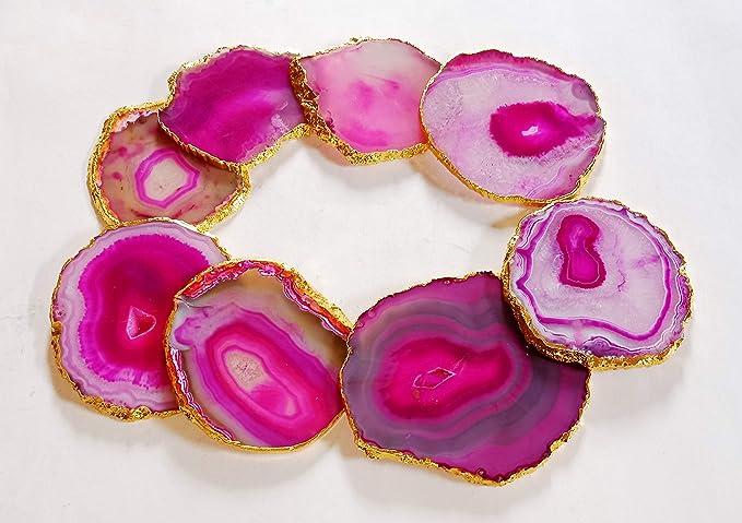 2 Piece Natural Large Agate Slice CoasterCup CoasterAgate Mug CoasterStone CoasterGemstone CoasterAgate Slice CoasterCoaster