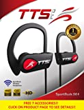 New 2018 Wireless Headphones-Noise Cancelling-Sports Ear Buds w/Microphone, IPX7 Waterproof,Red