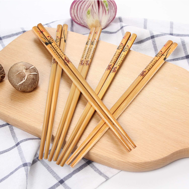 AckMond Set di bacchette per cucina cinese e giapponese, 5 paia, di ...