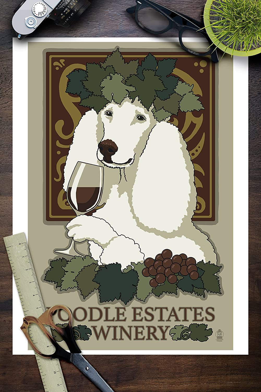 Poodle Word Definition Modern Framed Print New Home Print Illustrations