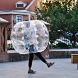 Superland 1.2M/1.5M Inflatable Bumper Ball 4ft/5ft Diameter Bubble Soccer Ball 0.8mm PVC Transparent Material Human Knocker Zorb Ball for Adults and Child
