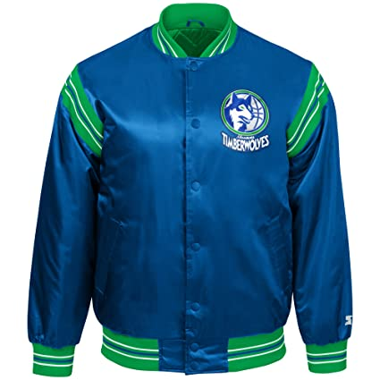 6c7526176b7a STARTER NBA Minnesota Timberwolves Youth Boys The Enforcer Retro Satin  Jacket