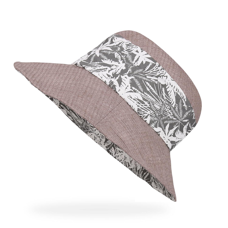 AHAHA Women Sun Hats Cotton Bucket Summer Hat Foldable Beach Cap for Ladies