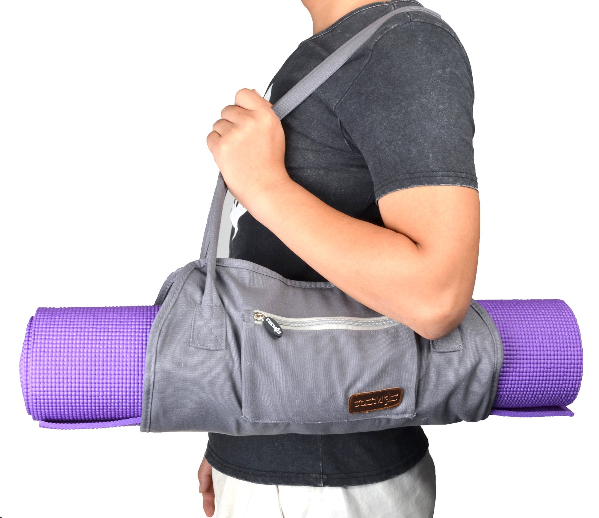 Cosmos Exercise Yoga Mat Carrying Shoulder Strap Bag with Internal and Outside Storge Pocket (Yoga Mat is NOT Included) by Cosmos (Image #6)