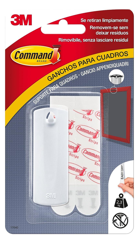 Command 17040 Gancho Para Cuadros Peque A Hasta 2 3 Kg Color  ~ Para Colgar Cuadros Sin Hacer Agujeros