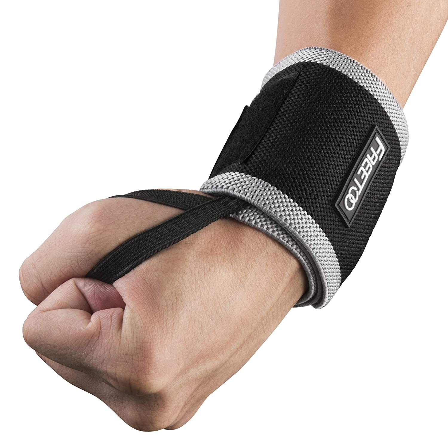 FREETOO Compression Support Wrist Wraps,Bandage Breathable Bracers Provide Wrist Support for Fitness,Bench Press, Weightlifting FREETOO Wrist Brace