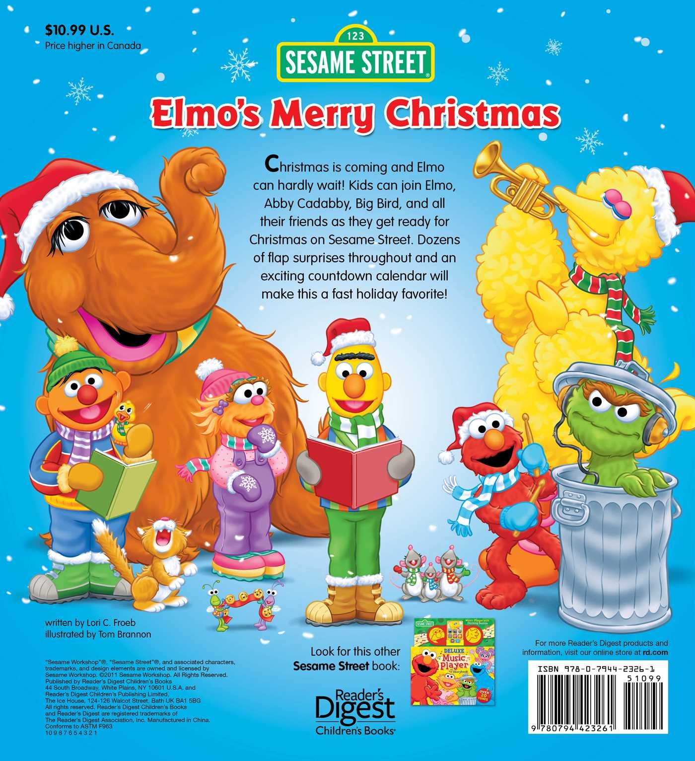 Sesame Street: Elmo's Merry Christmas (Lift-the-Flap): Sesame ...