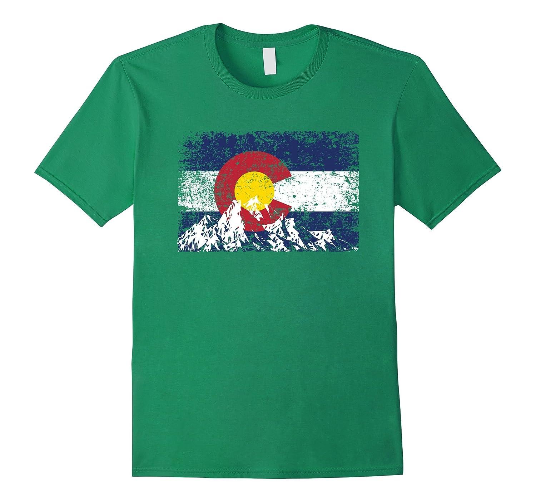 Colorado Flag Mountain Love Colorado T-Shirt-alottee gift